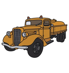 Old tank truck vector