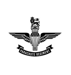 Parachute regiment insignia with vector