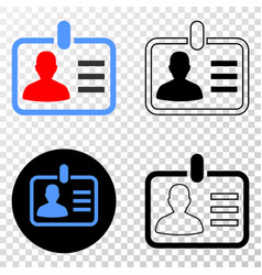 Person badge eps icon with contour version vector