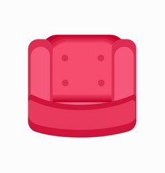 Pink sift armchair icon vector