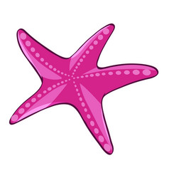 Pink starfish on white background vector