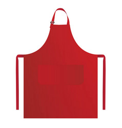 Proforma apron with three ties and vector
