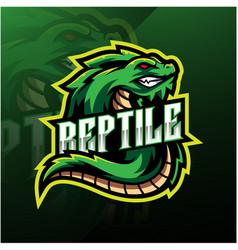 Reptile sport mascot logo design vector