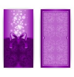 Royal invitation card with bow vector