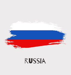Russia watercolor national country flag icon vector