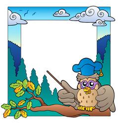 school theme frame 3 vector image