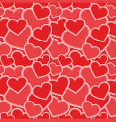 seamless pattern - hearts shapes red camouflage vector image