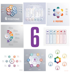 set 8 universal templates elements infographics vector image
