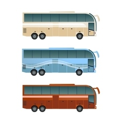Set of diffirent buses vector image vector image