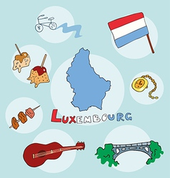 Set of national profile of the luxembourg vector
