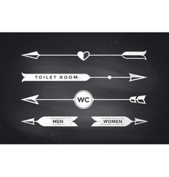 Set of vintage arrows and banners with inscription vector