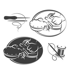 shoe repair symbol set vector image