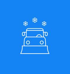 Snowplow line icon vector