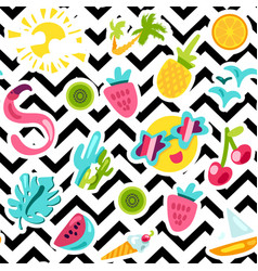 summer beach and leisure pattern vector image