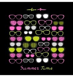 Summer sunglasses background vector