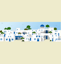 traditional greek houses vector image