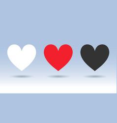 trendy decorative beauty hearts vector image