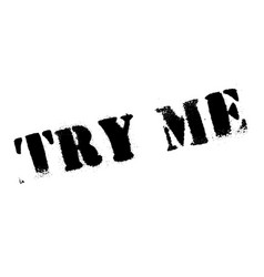 try me rubber stamp vector image