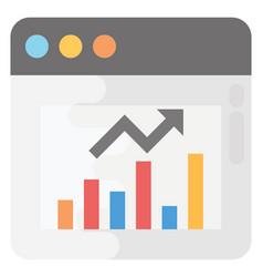 Web analytics flat icon vector