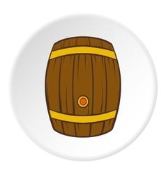 Barrel of beer icon cartoon style vector