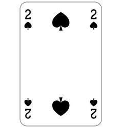 Poker playing card 2 spade vector image
