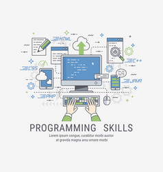 programming skills for web vector image vector image