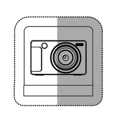 silhouette digital professional camera icon vector image