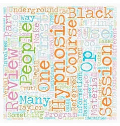 Black ops hypnosis underground hypnosis course in vector