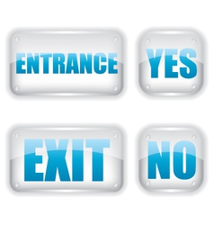Exit and entrance glass icon vector image vector image