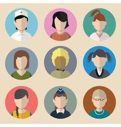Set of avatars woman vector image