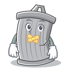 silent trash character cartoon style vector image vector image