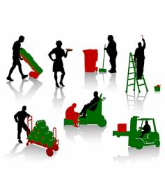 works people vector image vector image