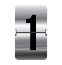 Alphabet silver flipboard letters 1 vector image