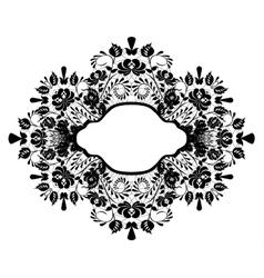 black lace frame vector image