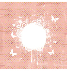 decorative vintage grunge vector image vector image
