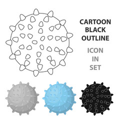 dog ballpet shop single icon in cartoon style vector image vector image