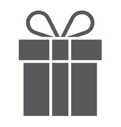 gift box glyph icon present and holiday package vector image