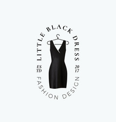 little black dress abstract sign symbol vector image