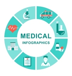 medical infographics diagram vector image vector image