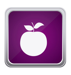 purple emblem apple fruit icon vector image