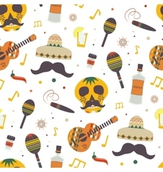 Cinco de Mayo seamless pattern with vector image vector image