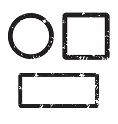 form set stamp texture square and round vector image