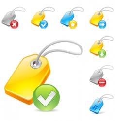 keyword tag icon vector image