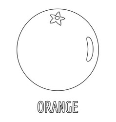 orange icon outline style vector image vector image