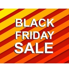 Red striped sale poster with BLACK FRIDAY SALE vector image