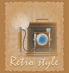 retro style poster old camera photo vector image vector image
