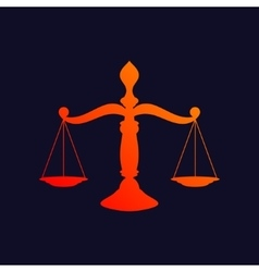 Scales of justice background vector image