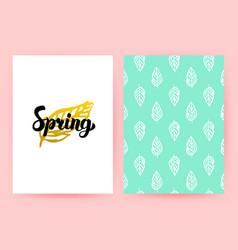 spring pastel retro poster vector image vector image