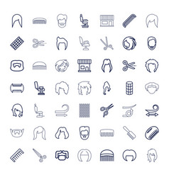 49 haircut icons vector