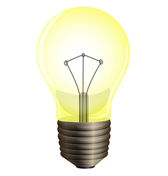 A yellow bulb vector
